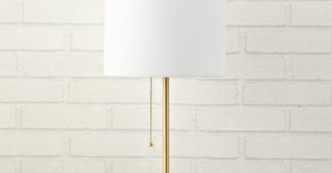 Urban Shop WK639524 Marble Metallic Stick Lamp