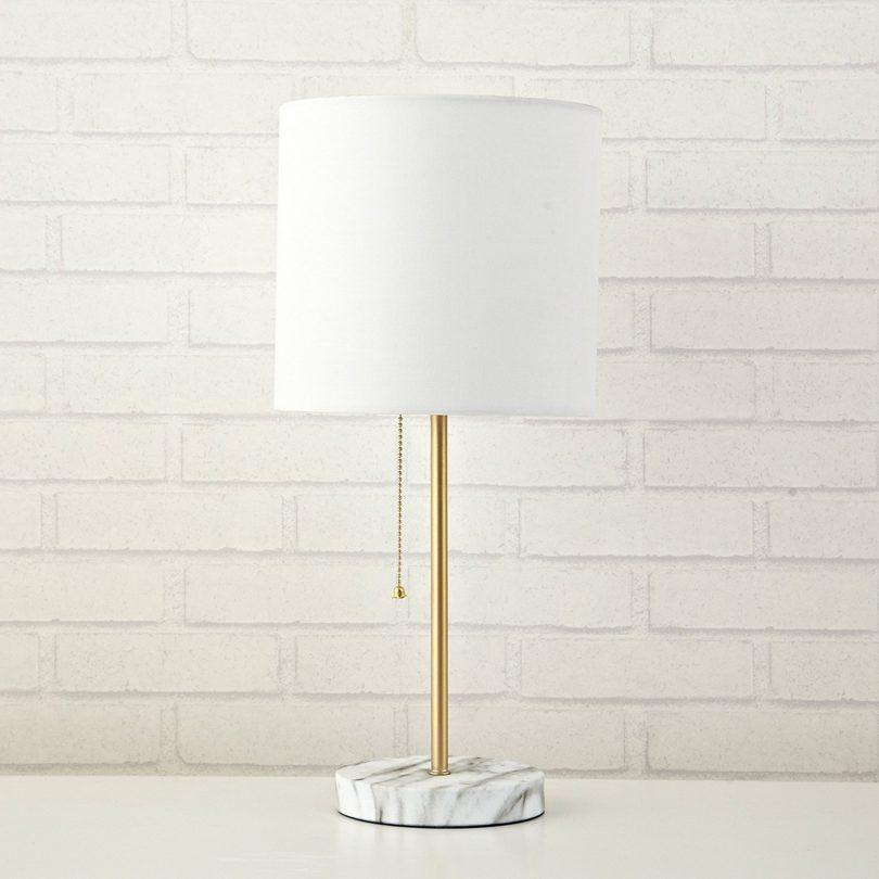 Urban Shop WK639524 Marble Metallic Stick Lamp
