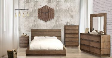 Leisa Bedell Rustic Natural Tone Low Profile Bed