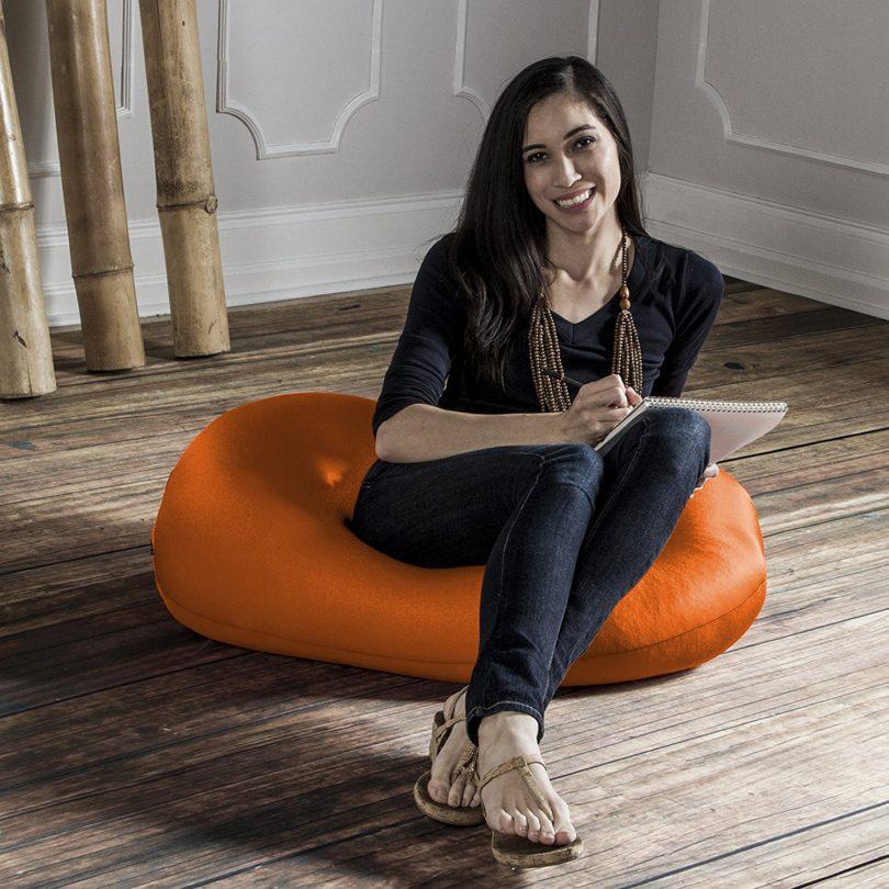 Peachy Jaxx Nimbus Spandex Bean Bag Ottoman Petagadget Customarchery Wood Chair Design Ideas Customarcherynet