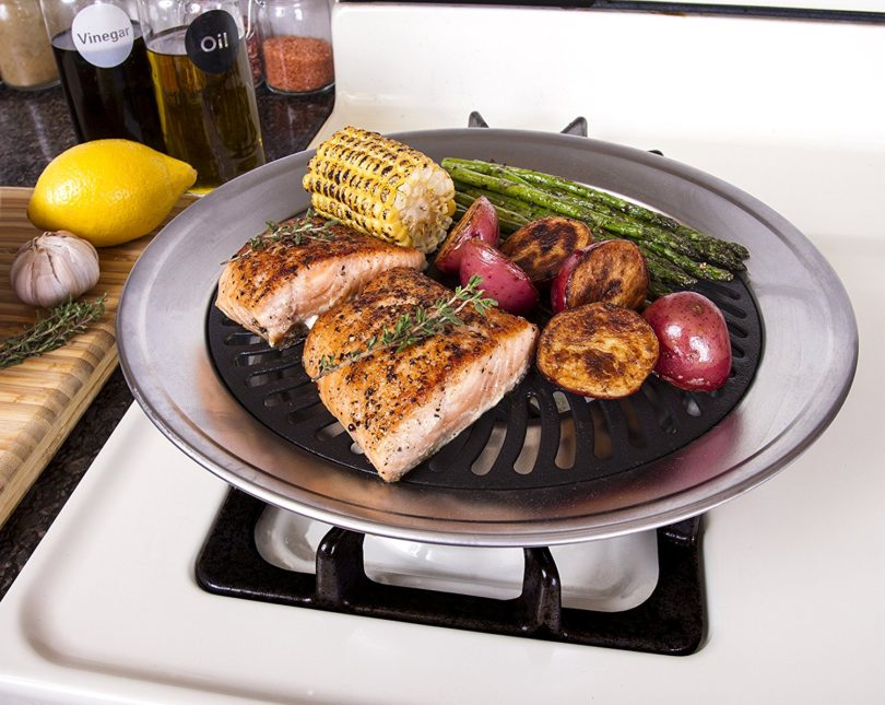 Kitchen + Home Stove Top Smokeless Grill Indoor BBQ