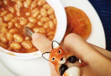 Mary Lou Orange Fox Ring