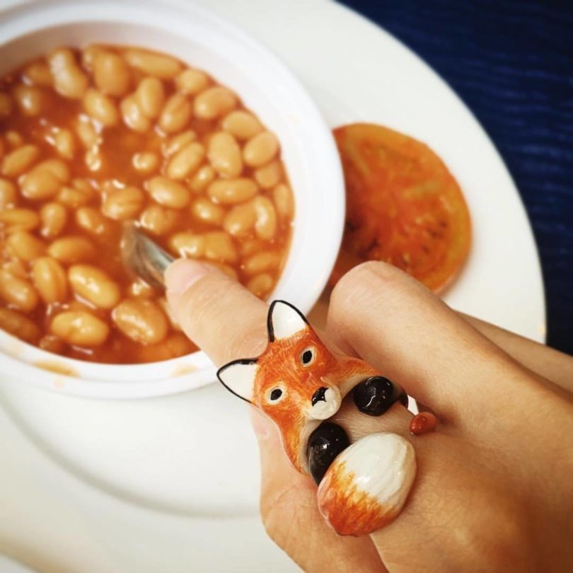 Mary Lou Orange Fox Ring