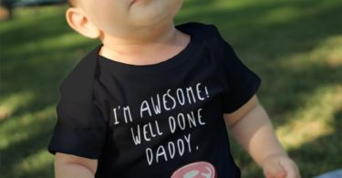 I'm Awesome Well Done Daddy Baby Onesie