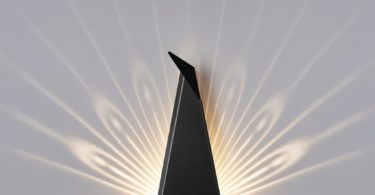 Black Aluminium Peacock LED Light Fixture