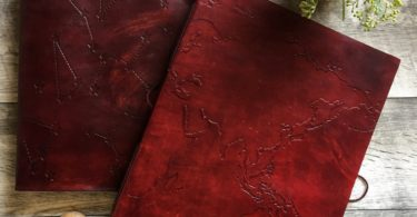 World Map Oversized Large Handmade Leather Journal