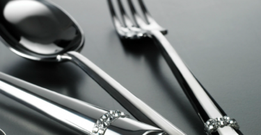 Duetto Swarovski 24-Piece Cutlery Set by Casa Bugatti