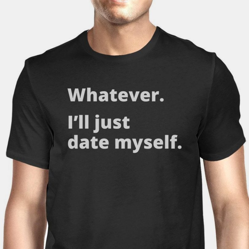 Date Myself Black T-Shirt