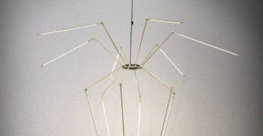 Brass Thin Chandelier by Juniper Design