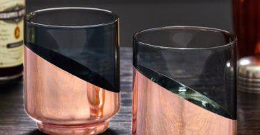Zaccari Copper-Dipped Crystal Tumbler Set