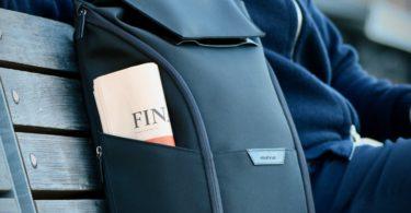 The Capstone Backpack in Black by Stuart & Lau