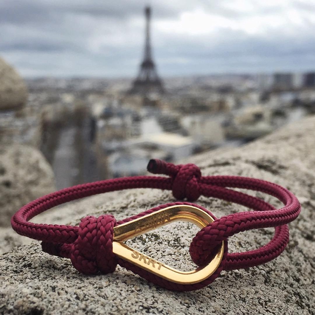 Burgundy Personalized Bracelet