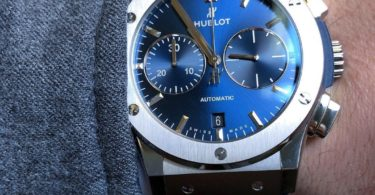 Hublot Classic Fusion Blue Sunray Dial Titanium Automatic Watch