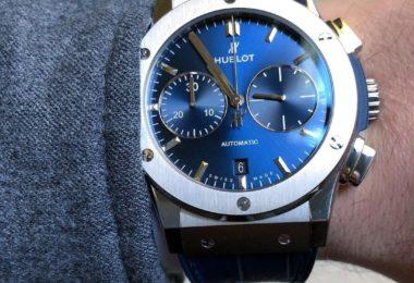 Hublot Classic Fusion Blue Sunray Dial Titanium Automatic Watch