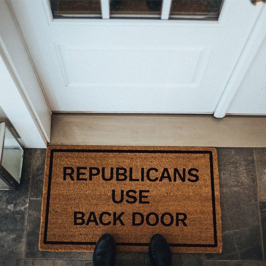 Republicans Use Back Door Doormat