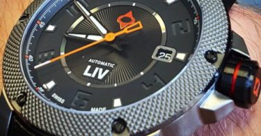 GX1-A Swiss Made Automatic Black Dial & Gray Numbers