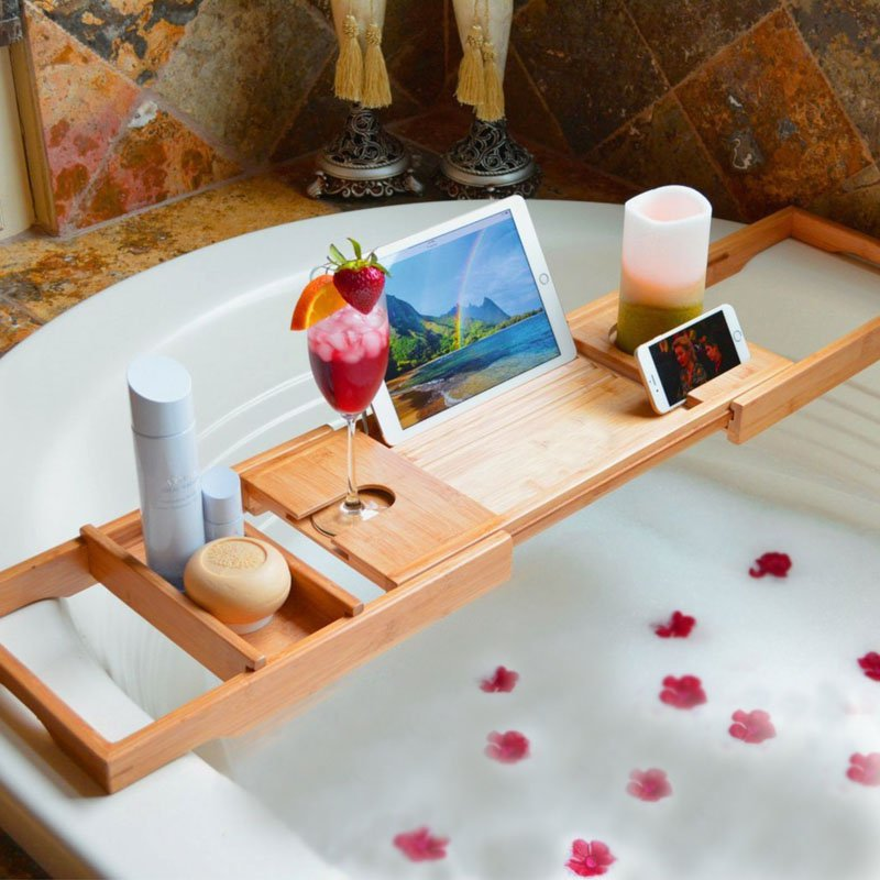 Adjustable Multifunctional Bathtub Caddy