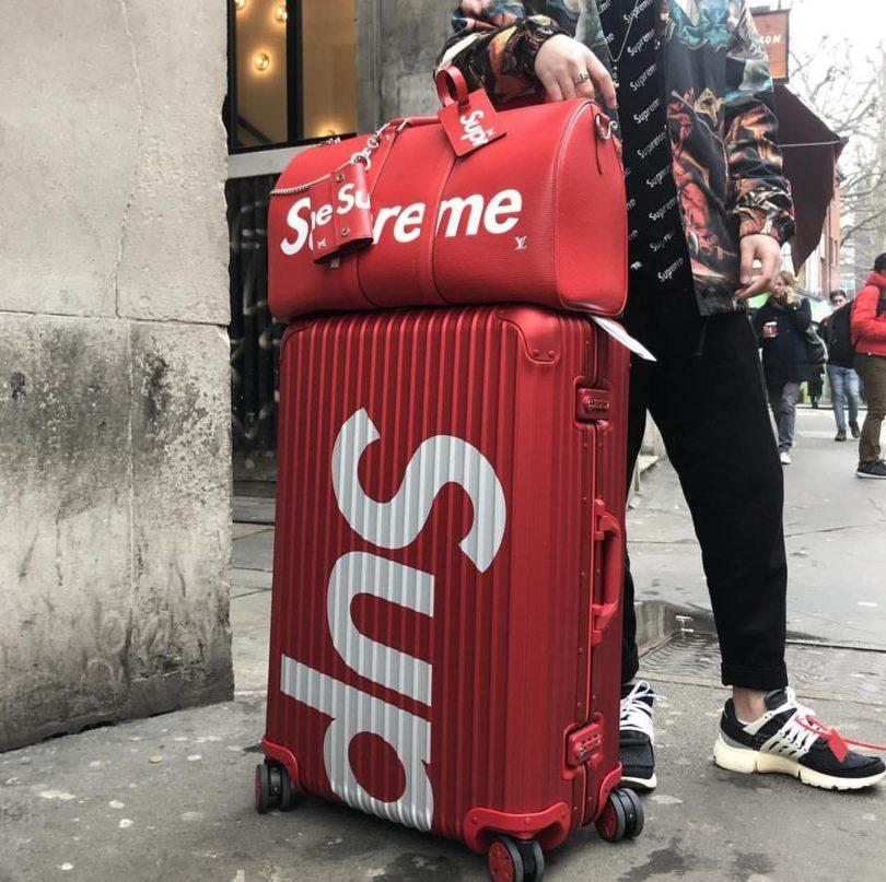 Supreme Rimowa Topas Multiwheel 82l Suitcase 187 Petagadget