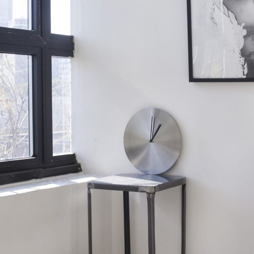 Brushed Stainless Steel Norm Wall Clock