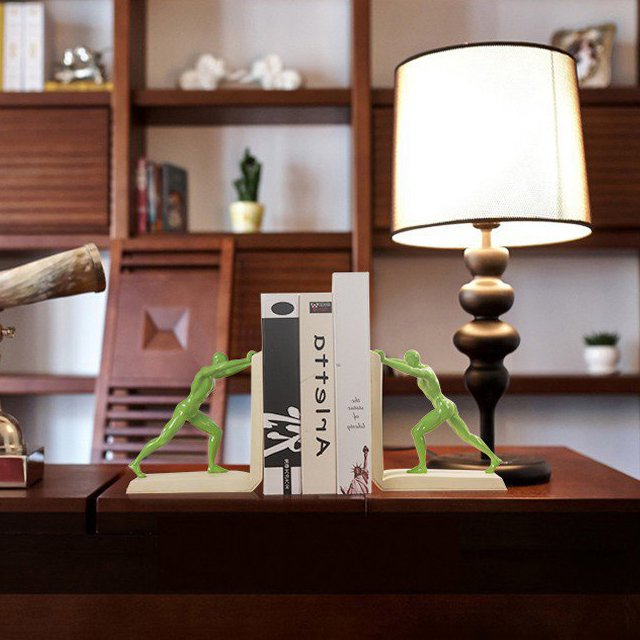Leaning Resin Bookend