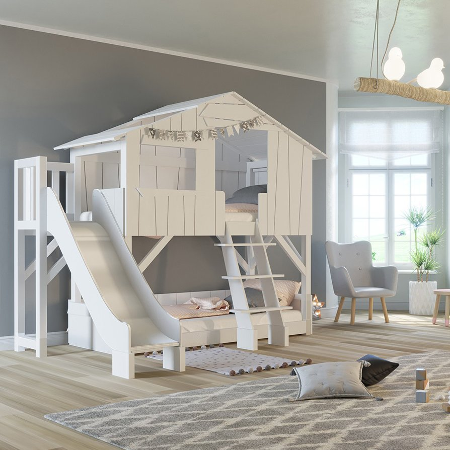 Treehouse Bunk Bed With Slide 187 Petagadget