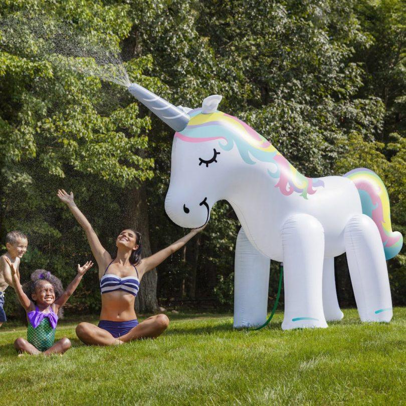 Giant Rainbow Unicorn Yard Sprinkler