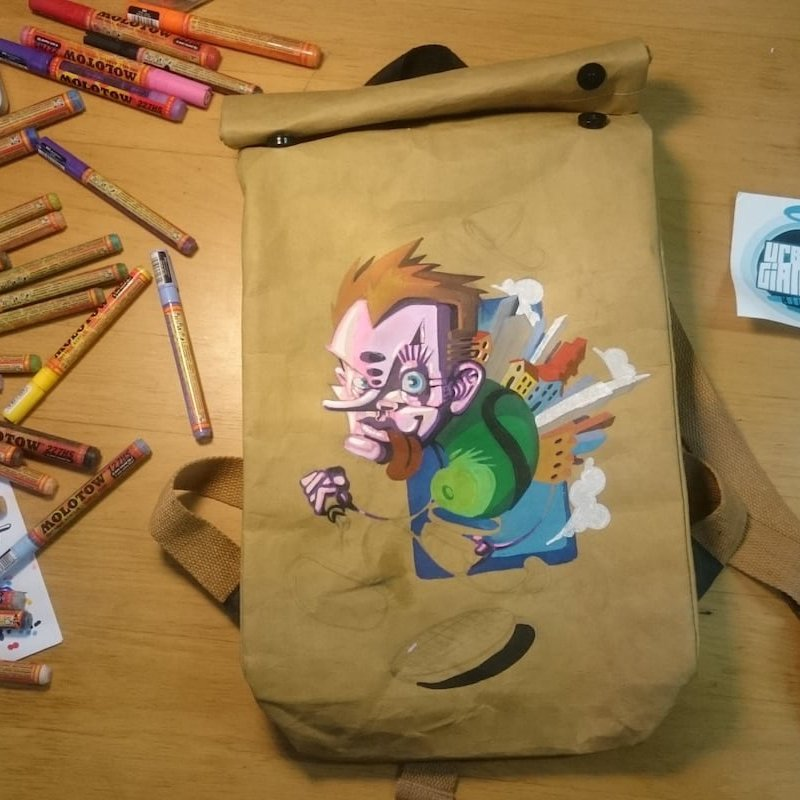 The Drawbag Paper-Leather DIY Backpack