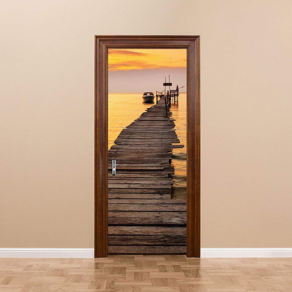 Beach Scenery Door Mural
