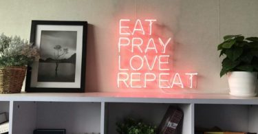 Eat Pray Love Repeat Real Glass Neon Sign