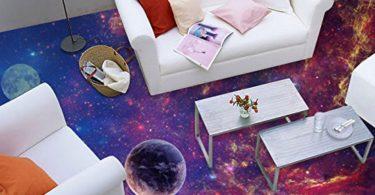 Floor Wallpaper Purple Colour Planets Photo Wallpaper