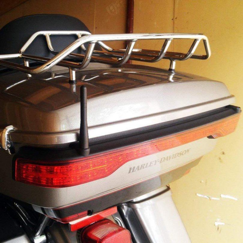 Maxracing Short Aluminum Antenna fits Harley-Davidson Motorcycles 1998-2018