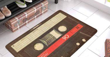 InterestPrint Funny Retro Old Compact Cassette Tape Doormat Non-Slip Indoor And Outdoor Door Mat Rug Home Decor