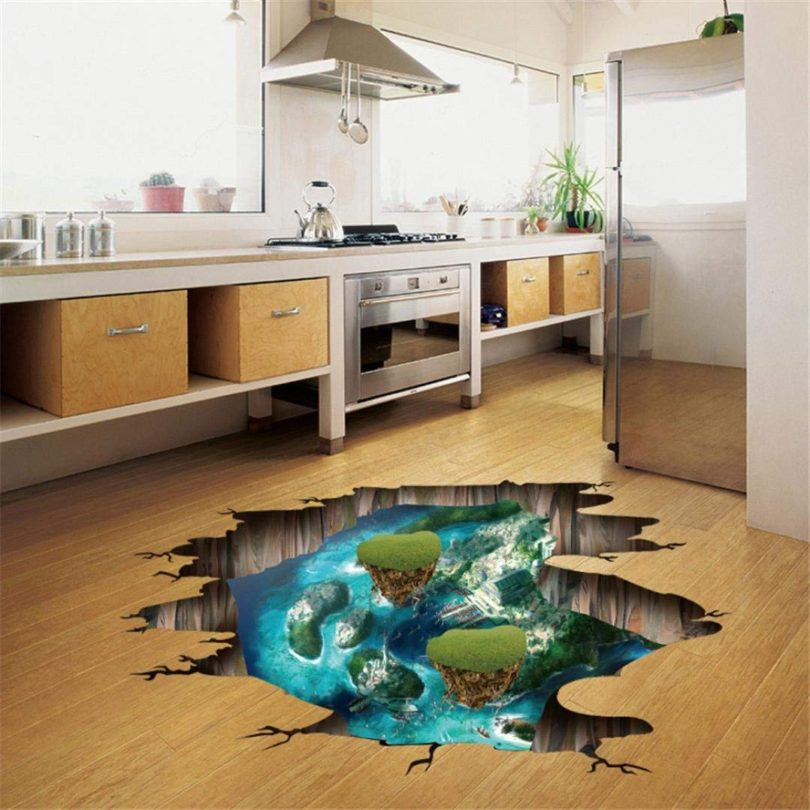 Island Floating Air Legend Tales Removable Art Mural