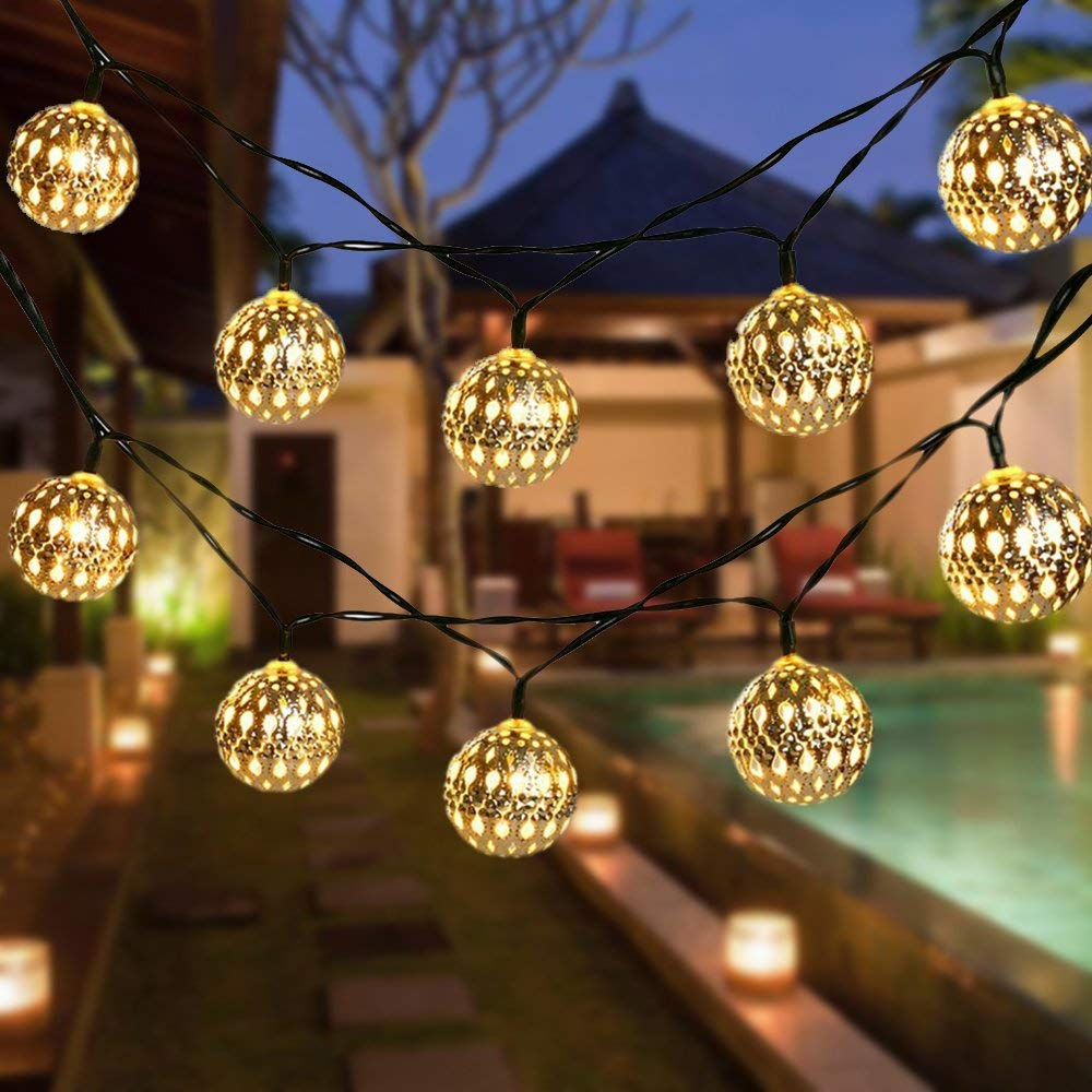 Solar Garden String Light Balls