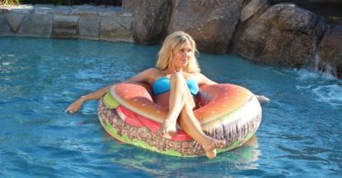 Tasty Cheese Burger Inflatable Float