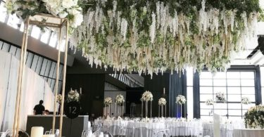 Luyue 3.18 Feet Artificial Silk Wisteria Vine Ratta Silk Hanging Flower Wedding Decor