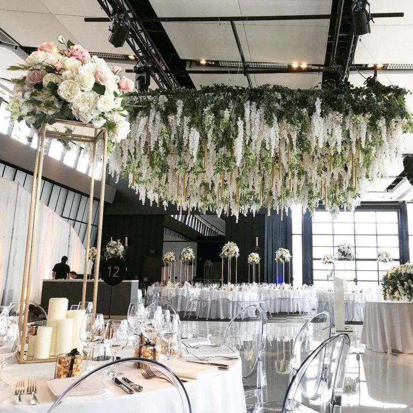 Luyue 3.18 Feet Artificial Silk Wisteria Vine Ratta Silk Hanging Flower Wedding Decor