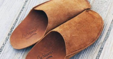 CP Slipper Tan Original One-piece Leather Slippers