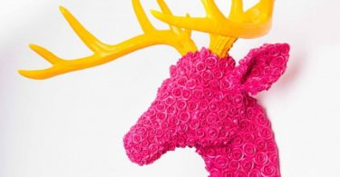 Pink Reindeer Head