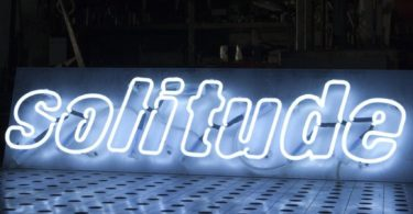 Solitude Neon Sign