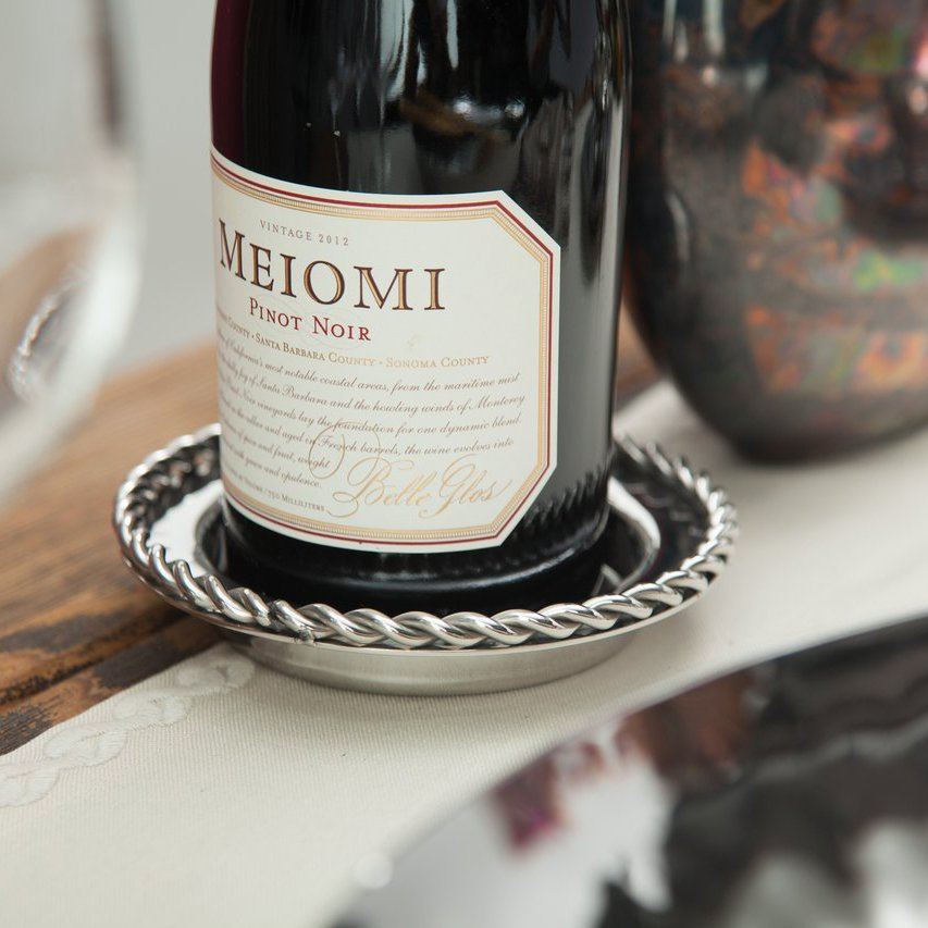 Paloma Bottle Coaster with Braided Wire