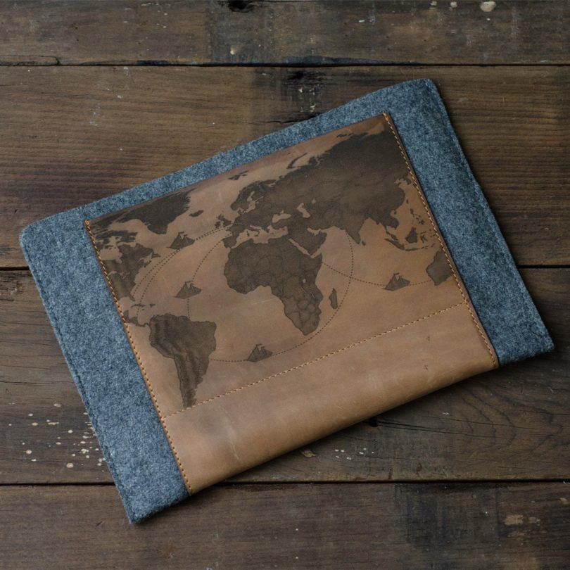 iPad Air Leather & Felt Sleeve