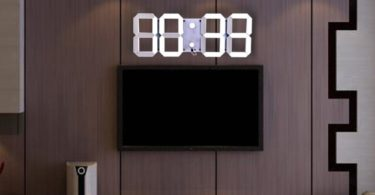Remote Control LED Digital Wall Clock