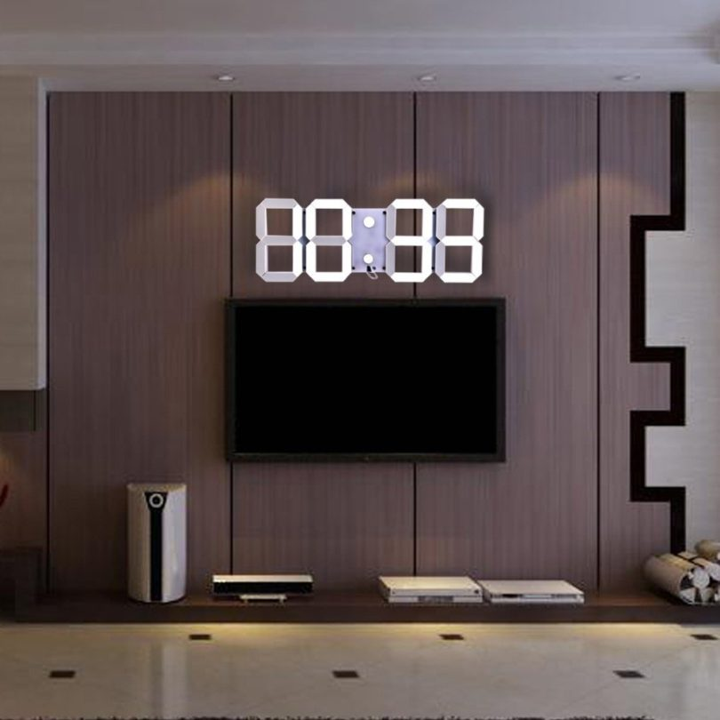 Remote Control Led Digital Wall Clock Petagadget