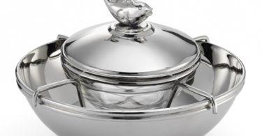 Mary Jurek Beluga Caviar Bowl with Glass Insert