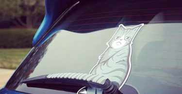 Kitty Tail Car Decal