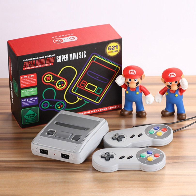 Super Mario Mini Retro Video Game Console with Built-In 621 Games