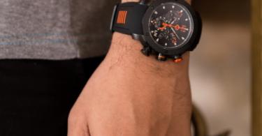 LIV GX1 Swiss Chronograph Black & Orange Numbers