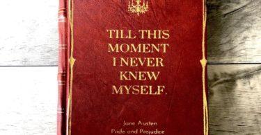 Vintage Jane Austen Pride & Prejudice Handmade Leather Journal