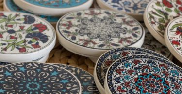 Turkish Handmade Traditional Ceramic Coaster